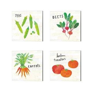 Melissa Averinos 'Kitchen Garden Cream' Canvas Art (Set of 4)