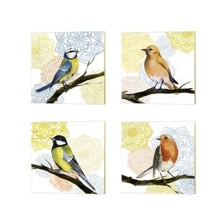 Grace Popp 'Mandala Bird' Canvas Art (Set of 4)