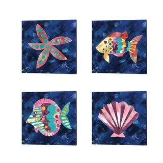 Wild Apple Portfolio 'Boho Reef' Canvas Art (Set of 4)