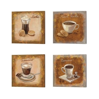 Silvia Vassileva 'Coffee Time' Canvas Art (Set of 4)