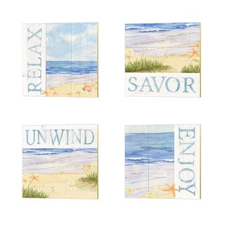 Tara Reed 'Savor the Sea' Canvas Art (Set of 4)