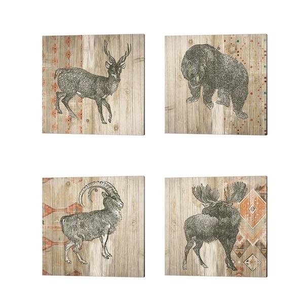 Wild Apple Portfolio 'Natural History Lodge Southwest B' Canvas Art (Set of 4)