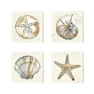 Anne Tavoletti 'Coastal Breeze B' Canvas Art (Set of 4)
