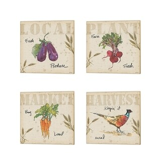 Anne Tavoletti 'Farmers Feast A' Canvas Art (Set of 4)