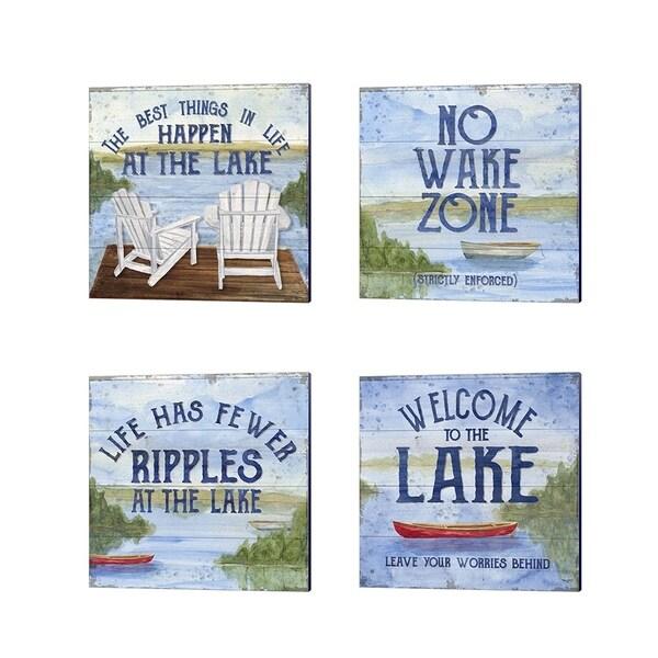 Tara Reed 'Lake Living' Canvas Art (Set of 4)