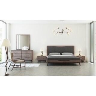 Nova Domus Soria Mid-Century Grey & Walnut Bedroom Set