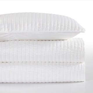 Channel Satin Quilt, King White