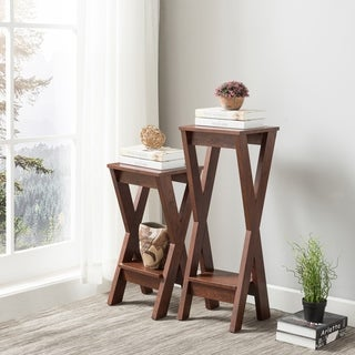 Furniture of America Wind Casual Crossed Lower Shelf Plant Stand