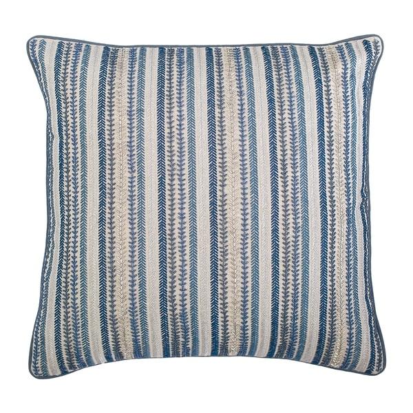 Carson Stripe Hand Beaded Cotton Pillow