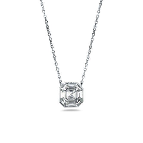 Auriya 1/3ctw Asscher-Cut Diamond Necklace 14-karat White Gold