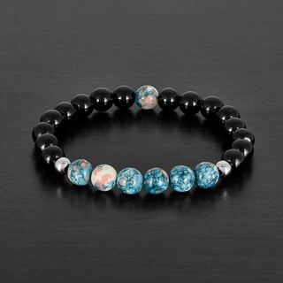 Agate and Natural Stone Beaded Bracelet (8mm)