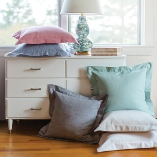 Darcey Hemstitch Cotton Pillow