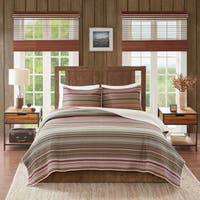 Woolrich Willard Multi Oversized Stripe Print Cotton Quilt Set
