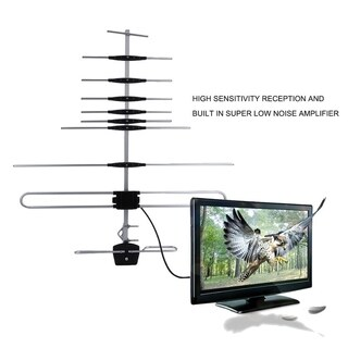 150 Mile Outdoor 32E TV Aerial HDTV FM Optimized Digital Strong Signal Booster