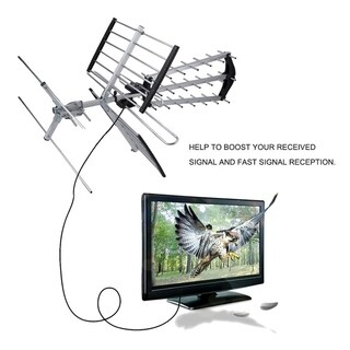 180Mile 3c-27b2 TV 1080p Outdoor Amplified HD TV Digital Signal Booster Aerial