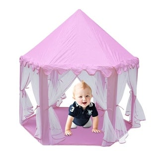 Children Indoor Play Tent Folding Toy Tent Pop Up Girl Princess Castle - Pink