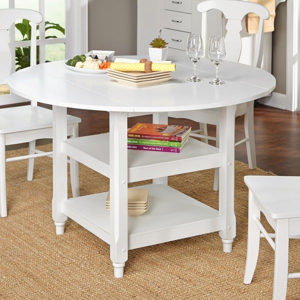 simple living cottage white round dining table free shipping today