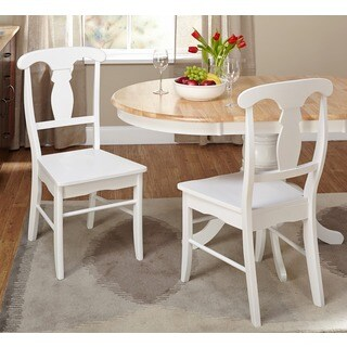 Simple Living Solid Wood Empire Dining Chairs (Set of 2)
