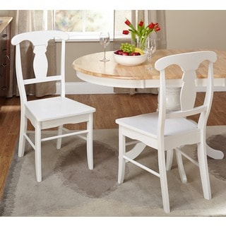 Simple Living Solid Wood Empire Dining Chairs (Set Of 2) (Option: White