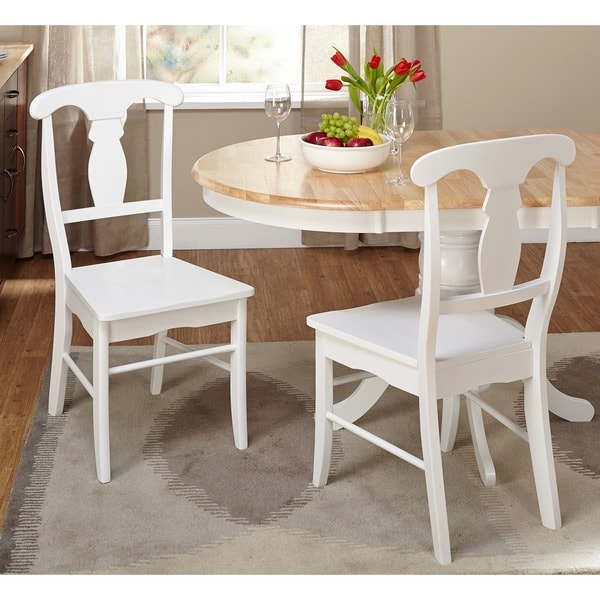 Simple Living Solid Wood Empire Dining Chairs Set Of 2