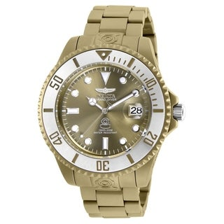 Invicta Men's Pro Diver 27537 Khaki, Stainless Steel Watch