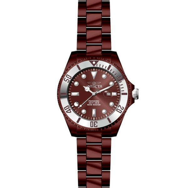 307d3be10 Shop Invicta Men's Pro Diver 27541 Burgundy, Stainless Steel Watch - Free  Shipping Today - Overstock - 25604662