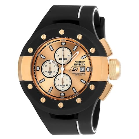 Invicta Men's S1 Rally 22439 Rose Gold, Black Watch