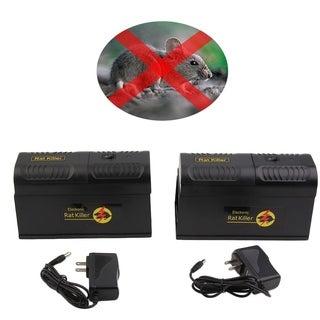 2pcs/set Universal Low power consumption Mouse Repellent Anti Mosquito Device - Black