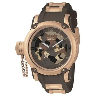 Invicta Men's Russian Diver 11342 Rose Gold, Brown Watch