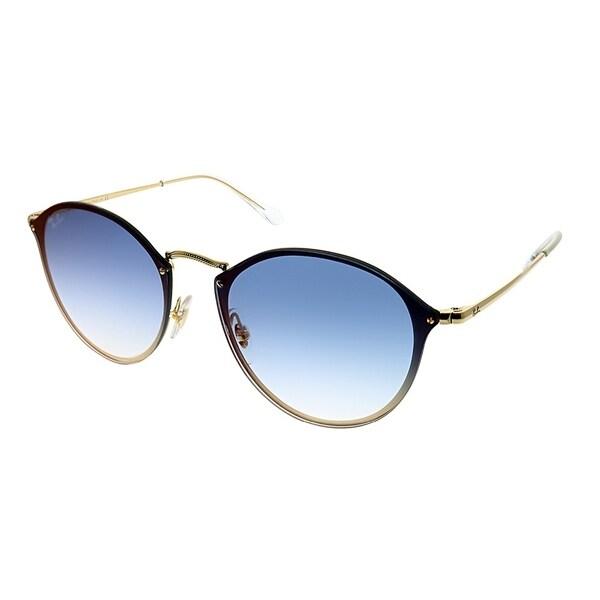 0ae3843aa0fd6 Ray-Ban Round RB 3574N Blaze Round 001 X0 Unisex Gold Frame Blue Gradient