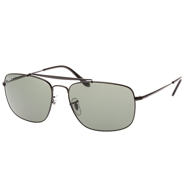 38e870673bf1c Ray-Ban Aviator RB 3560 The Colonel 002 58 Unisex Black Frame Green  Polarized