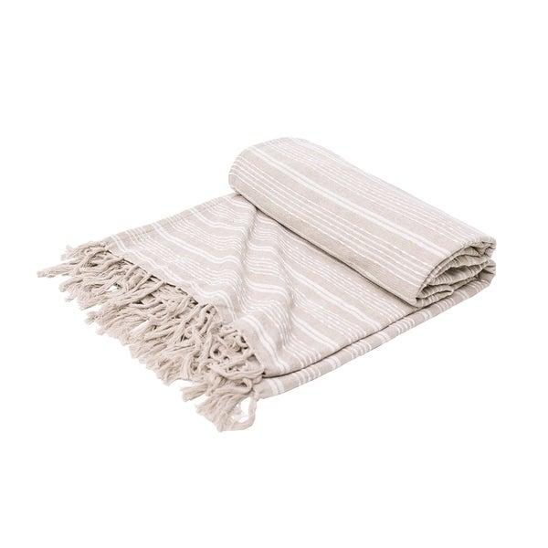 Laurel Stripe Cotton Chenille Throw