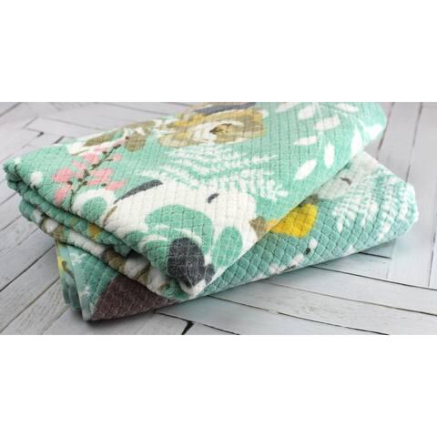 Peach & Oak Sara Print Hand Towels, 2-Pack, Multi