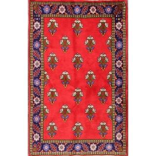 "Geometric Traditional Handmade Abadeh Persian Area Rug Wool - 5'2"" x 3'3"""