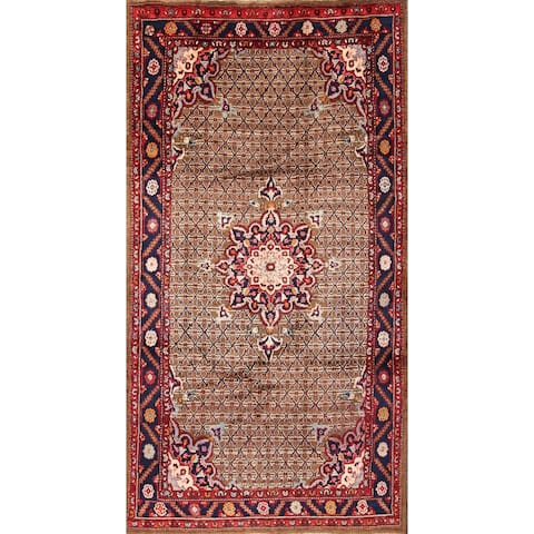 "Koliaei Hamedan Handmade Medallion Persian Traditional Area Rug Wool - 8'10"" x 4'8"""