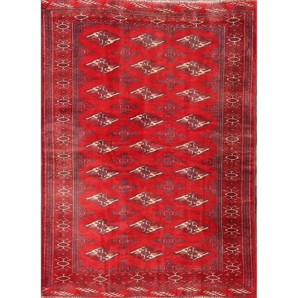 "Handmade Oriental Traditional Vintage Turkoman Persian Area Rug - 5'6"" x 4'0"""
