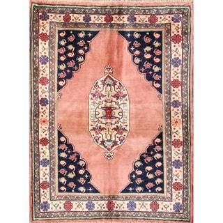 "Handmade Vintage Traditional Bidjar Persian Oriental Area Rug - 4'11"" x 3'8"""