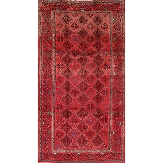 """Hand Made Wool Oriental Traditional Balouch Persian Area Rug - 9'6"""" x 5'2"""""""
