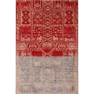"Shiraz Wool Hand Knotted Area Rug Persian Geometric Tribal - 7' x 4'9"""