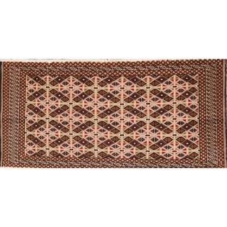 "Traditional Handmade Turkoman Balouch Persian Area Rug - 2' x 4'2"""