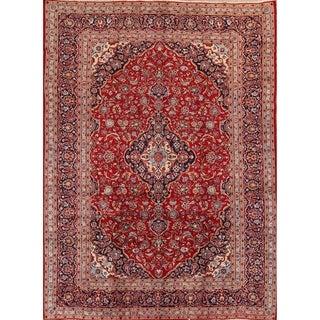 "Kashan Handmade Vintage Persian Traditional Area Rug Wool - 12'11"" x 9'4"""