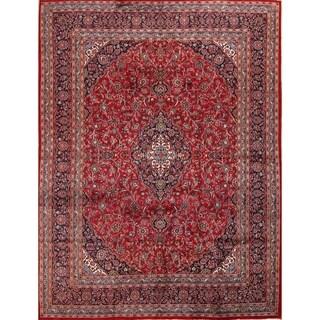 "Traditional Hand Made Mashad Persian Medallion Wool Area Rug - 12'6"" x 9'7"""