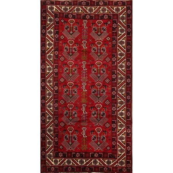 "Traditional Handmade Afshar Sirjan Persian Area Rug Woolen - 9'9"" x 5'2"" runner"