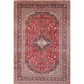 "Kashan Handmade Vintage Persian Traditional Area Rug Wool - 13'1"" x 9'6"""