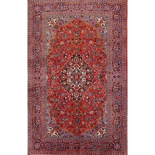 "Kashan Handmade Persian Traditional Medallion Wool Area Rug - 12'2"" x 7'11"""