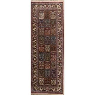 "Hand Made Traditional Bakhtiari Persian Woolen Oriental Rug - 11'6"" x 4'1"" runner"
