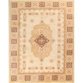 """Handmade Classical Aubusson Chinese Oriental Traditional Area Rug - 12'1"""" x 9'4"""""""