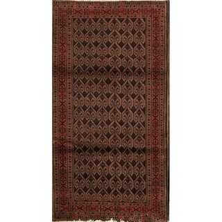 "Balouch Genuine Wool Hand Knotted Persian Area Rug Oriental - 3'10"" x 2'7"""