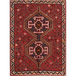"Traditional Hand Made Shiraz Persian Tribal Wool Area Rug - 4'8"" x 3'6"""