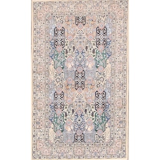 "Classical Nain Isfahan Hand Knotted Persian Traditional Area Rug - 8'2"" x 4'11"""